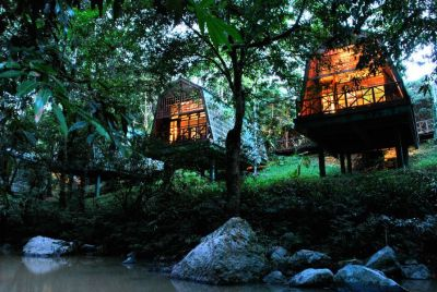 Tabin River Lodge Night
